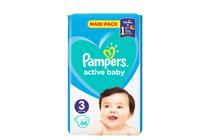 Бебешки пелени » Пелени Pampers Active Baby Midi, 66-Pack