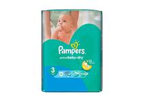 Бебешки пелени » Пелени Pampers Active Baby Dry Midi, 15-Pack