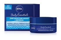 Нощни кремове за лице » Нощен крем Nivea Essentials 24H Moisture Boost + Refresh Night Cream