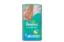 Бебешки пелени » Пелени Pampers Active Baby Dry Midi, 74-Pack