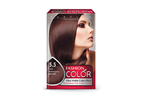 Бои за коса и оцветяващи продукти » Боя за коса Rubelia Fashion Color, 5.5 Dark Mahogany Brown