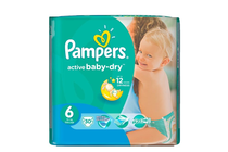 Бебешки пелени » Пелени Pampers Active Baby Dry Extra Large, 30-Pack