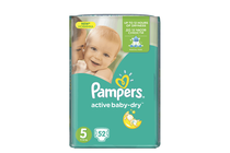 Бебешки пелени » Пелени Pampers Active Baby Junior, 54-Pack