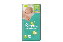 Бебешки пелени » Пелени Pampers Active Baby Maxi, 64-Pack