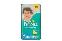 Бебешки пелени » Пелени Pampers Active Baby Maxi Plus, 53-Pack