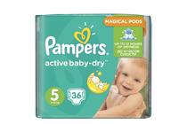 Бебешки пелени » Пелени Pampers Active Baby Dry Junior, 36-Pack