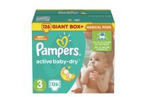 Бебешки пелени » Пелени Pampers Active Baby Dry Midi, 126-Pack