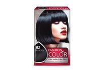 Бои за коса и оцветяващи продукти » Боя за коса Rubelia Fashion Color, 02 Blue Black