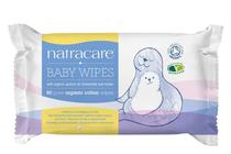Мокри кърпички за бебета и деца » Мокри кърпички Natracare Baby Wipes, 50-Pack