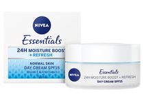 Дневни кремове за лице » Дневен крем Nivea Essentials 24H Moisture Boost + Refresh Day Cream SPF 15