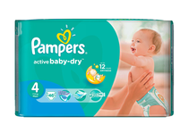 Бебешки пелени » Пелени Pampers Active Baby Dry Maxi, 46-Pack