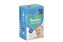 Бебешки пелени » Пелени Pampers Active Baby Maxi, 17-Pack