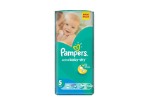 Бебешки пелени » Пелени Pampers Active Baby Junior, 51-Pack