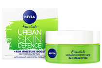 Дневни кремове за лице » Дневен крем Nivea Essentials Urban Skin Defence + 48H Moisture Boost SPF 20