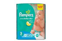 Бебешки пелени » Пелени Pampers Active Baby Midi, 82-Pack