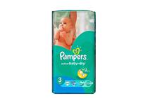 Бебешки пелени » Пелени Pampers Active Baby Dry Midi, 54-Pack