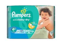 Бебешки пелени » Пелени Pampers Active Baby Dry Maxi Plus, 40-Pack
