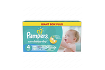 Бебешки пелени » Пелени Pampers Active Baby Dry Maxi, 106-Pack