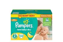 Бебешки пелени » Пелени Pampers New Baby Dry Mini, 144-Pack