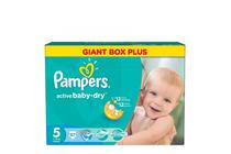 Бебешки пелени » Пелени Pampers Active Baby Dry Junior, 87-Pack
